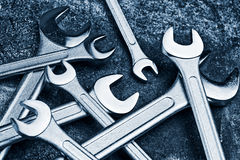 Wrench Jaw Spanner Tools Stock Photos