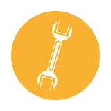 Wrench mechanic tool icon Royalty Free Stock Photography