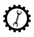 Wrench mechanic tool icon Royalty Free Stock Images