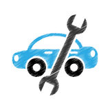 Wrench mechanic tool icon Royalty Free Stock Photo