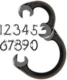 Wrench numbers Stock Images