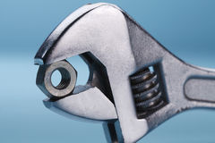 Wrench and nut Royalty Free Stock Photos