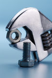 Wrench and nut Stock Image