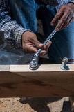 Wrench nut bolt Royalty Free Stock Image