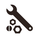 Wrench, nuts and bolt icon Royalty Free Stock Photo