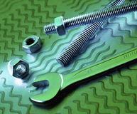 Wrench Nuts and Bolts Stock Images