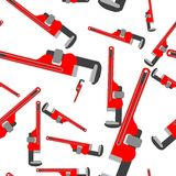 Wrench pipe seamless pattern Royalty Free Stock Photo