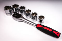 Wrench-ratchet heads. Royalty Free Stock Photography