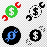 Wrench Repair Price Vector EPS Icon with Contour Version stock illustration