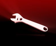 Wrench repair tool. Monkey wrench repair tool shiny glowing illustration royalty free illustration