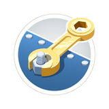 Wrench screw nut Royalty Free Stock Photography
