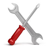 Wrench and screwdriver Royalty Free Stock Photo