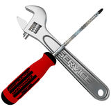 Wrench and screwdriver Royalty Free Stock Photography