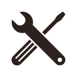 Wrench and screwdriver icon Royalty Free Stock Photos