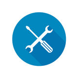Wrench and screwdriver icon. Wrench and screwdriver vector icon Royalty Free Stock Image