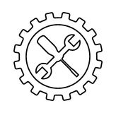 Wrench and screwdriver mechanic tools icon Royalty Free Stock Image