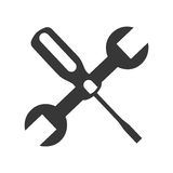 Wrench and screwdriver mechanic tools icon Royalty Free Stock Photos