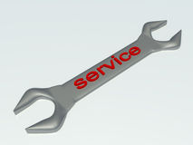Wrench service Stock Photography