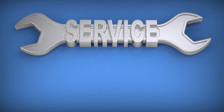 Wrench. Service concept. Stock Photo
