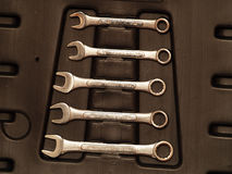 Wrench set Royalty Free Stock Image