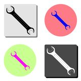 Wrench. flat vector icon royalty free illustration