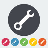 Wrench single icon. Stock Photography