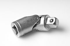 Wrench socket joint. Close-up of a wrench socket joint stock images
