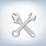 Wrench and spanner icon Royalty Free Stock Image