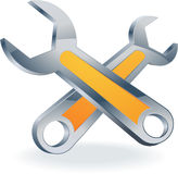 Wrench spanner vector Royalty Free Stock Photo