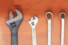 Wrench and spanner stock photos