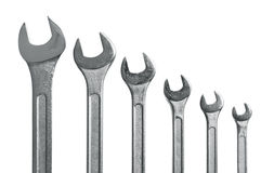 Wrench tool assortment Stock Images