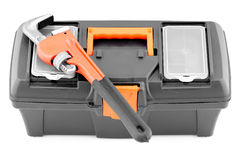 Wrench and tool case. Stock Photos