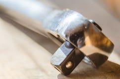 Wrench tool closeup Stock Photos