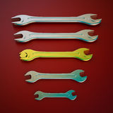 Wrench tool Royalty Free Stock Images