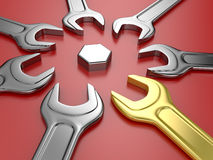 Wrench tools Stock Image