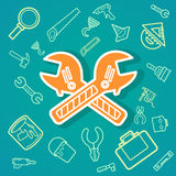 Wrench and Tools icons .Illustration Stock Images