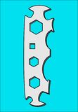 WRENCH UNIVERSAL PATTERN. Tool for tightening nuts and bolts Royalty Free Stock Image