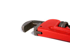 Wrench for waterpipe. Wrench for work with pipes for a waterpipe Stock Photos