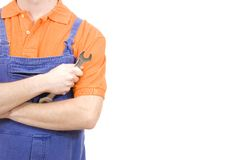 Wrench worker Royalty Free Stock Images