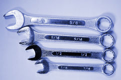 Wrenches-4. Four wrenches Stock Photography