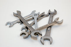 Wrenches. A collection of wrenches stock image