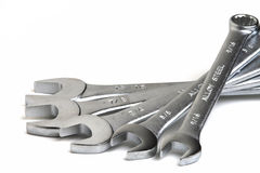Wrenches. Multiple wrenches Stock Images