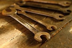 wrenches Στοκ εικόνες με δικαίωμα ελεύθερης χρήσης