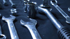 Wrenches ans spanners stock video