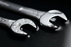Wrenches as a Symbol for Teamwork in Business Groups. Two Wrenches as a Symbol for Teamwork in Business Groups Royalty Free Stock Photo
