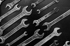 Wrenches black white image Royalty Free Stock Photos