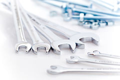 Wrenches, bolts and nuts Stock Image