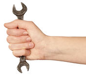 Wrenches in hand. Stock Photography