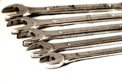 Wrenches on line Stock Images