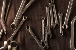 Wrenches - Metal tools Royalty Free Stock Photography